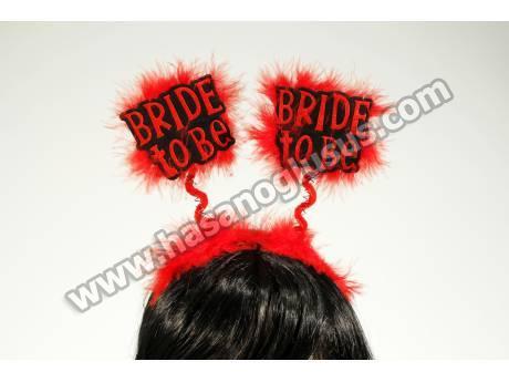 Bride To Be Kırmızı Parti Tacı