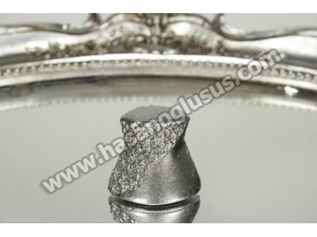 Gelin Figürlü Gümüş Biblo
