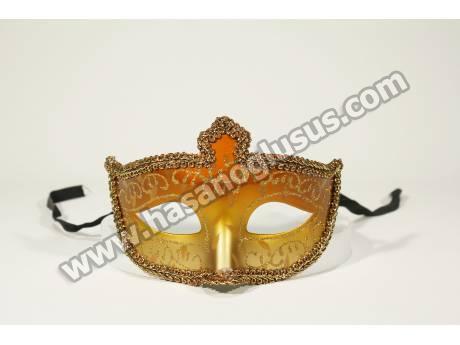 İşlemeli Yaldızlı Kına Maskesi