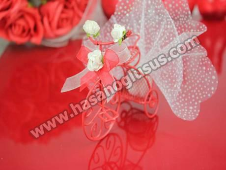 Kırmızı Bisiklet Nikah Şekeri