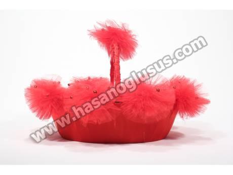 Kırmızı Boncuklu Kına Sepeti