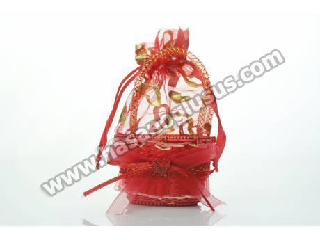 Kırmızı Çanta Kına Çerez Kesesi