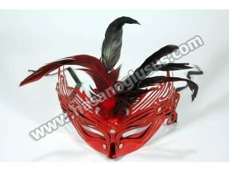 Kırmızı çiçekli Parti Maskesi