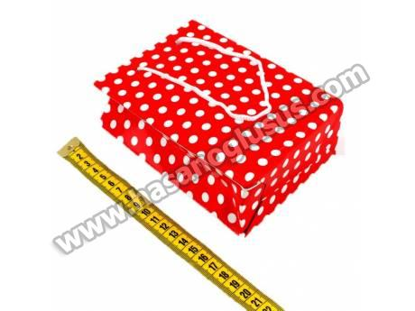 Kırmızı Karton Çanta 20 Adet 12x17 cm