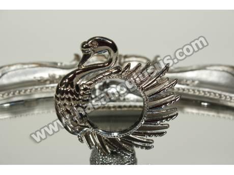 Kuğu Figürlü Metal Ayna