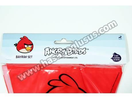 Lisanslı Angry Birds Parti Flaması