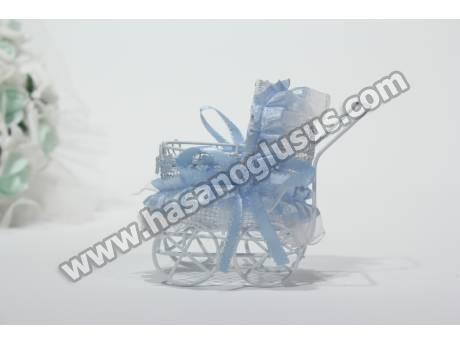 Mavi Bebek Arabası