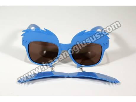 Mavi Kaş Bıyık Parti Gözlüğü
