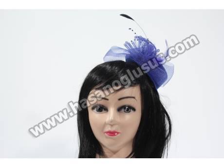 Mavi Nikah Şapkası Vualet