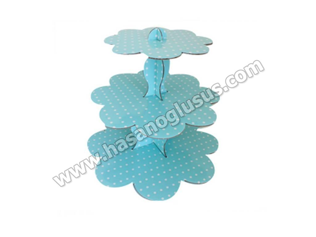 Kek Standı, Mavi Puantiyeli Kek Standı