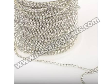 Metal Yuvalı Kristal Şerit