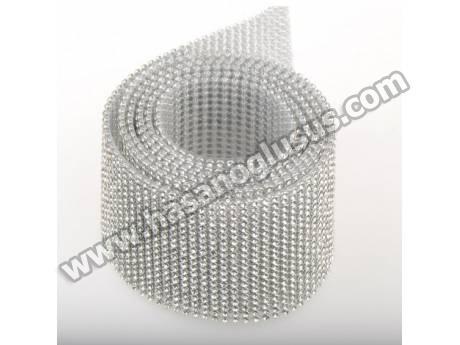 Metal Yuvalı Kristal Taşlı Yapıştırma Mesh