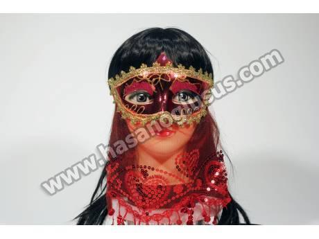 Peçeli Kına Maskesi