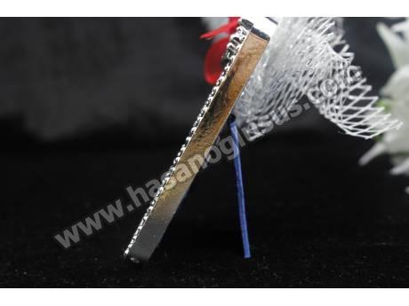 Plastik Gümüş Çerçeve Nikah Şekeri