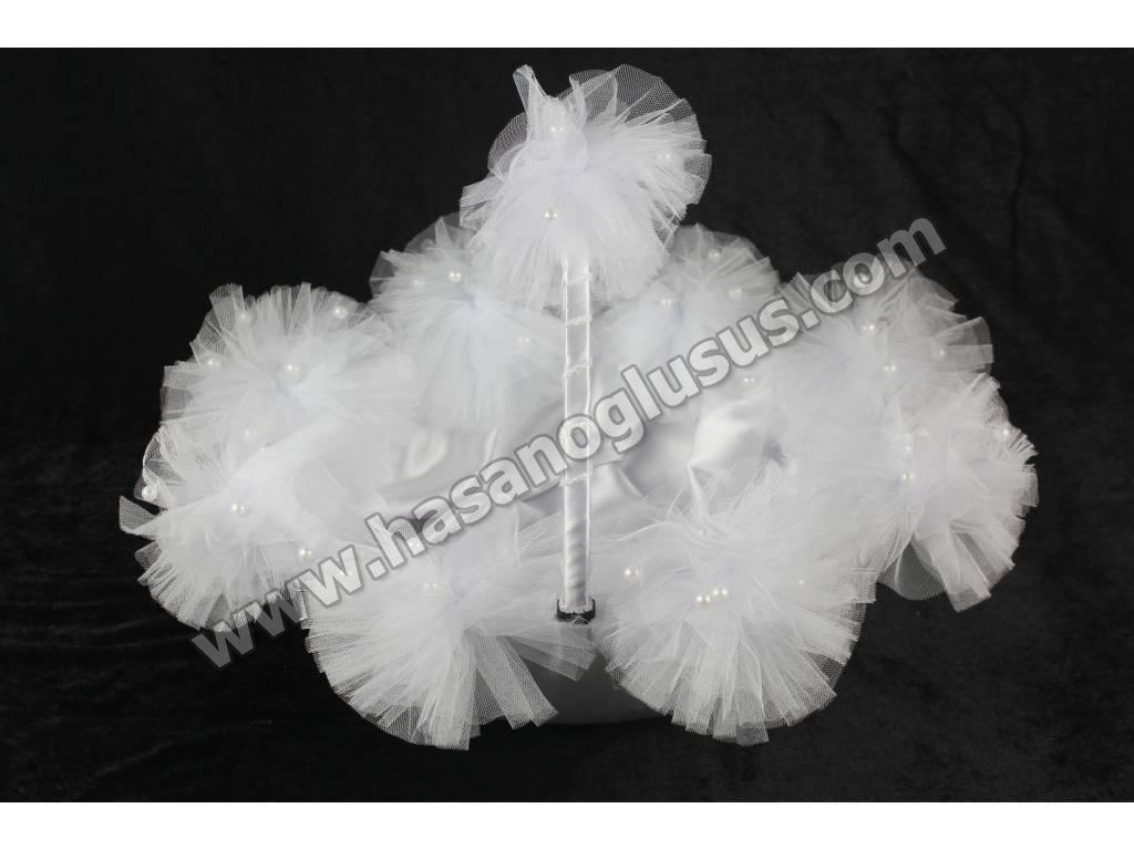 Kına Sepetleri, Ponponlu Kına Sepeti Beyaz