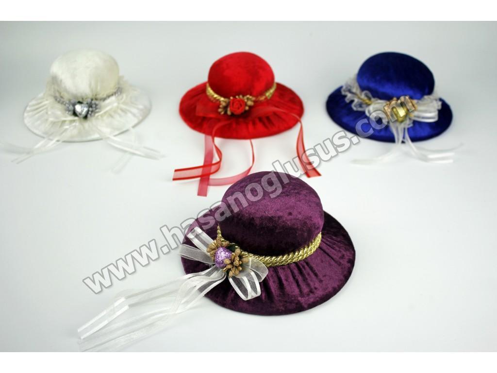 Kına Gecesi Aksesuarları, Şapka Modelli İğnedanlık