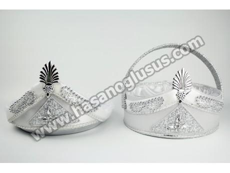 Sünnet Sepet Tepsi Takımı Gümüş