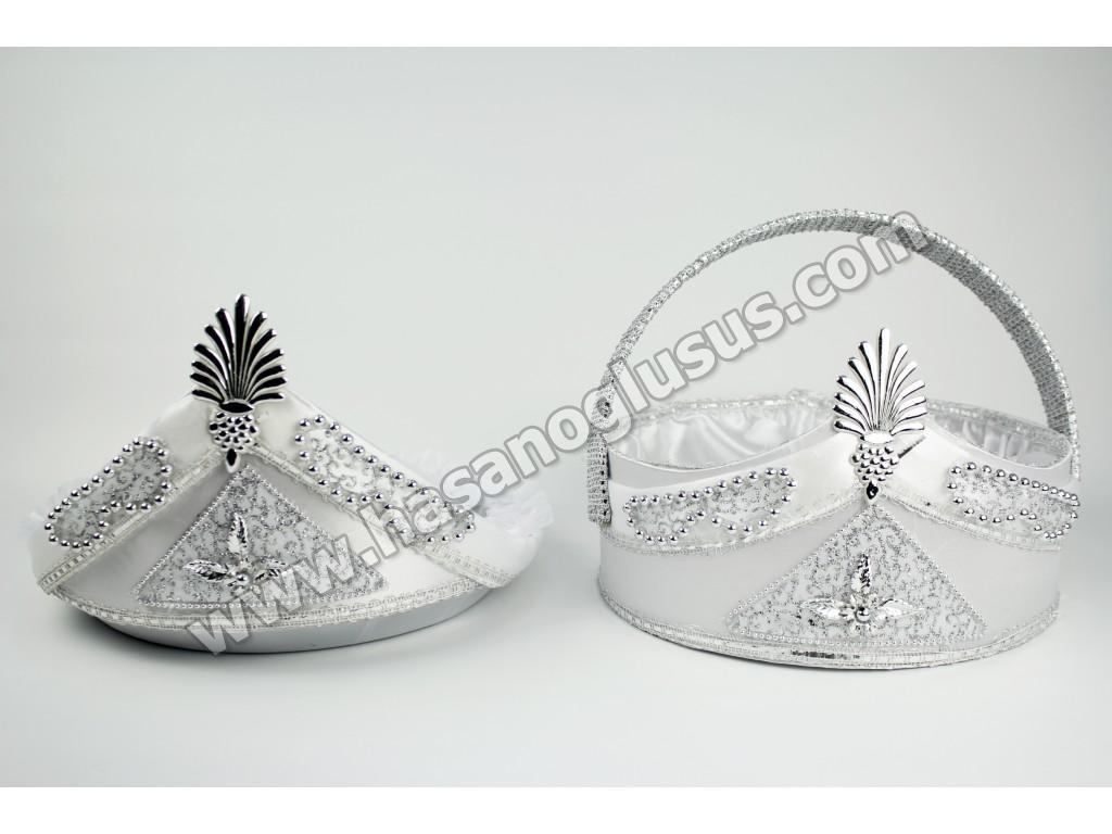 Kına Sepetleri, Sünnet Sepet Tepsi Takımı Gümüş