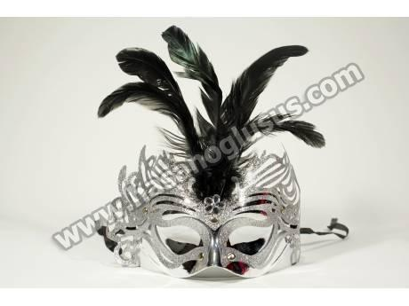 Tüylü Yaldızlı Kına Maskesi