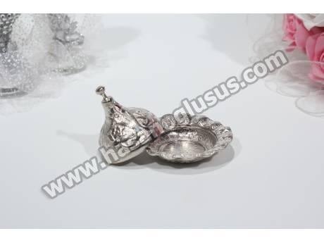 Yuvarlak Gümüş Lokumluk